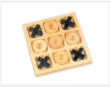 RS-168 strategic wooden tic tac toe game pieces