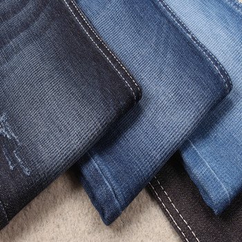 Glitter denim with golden weft yarn stretch denim fabric for levis jeans