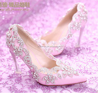 OW22 royal pink butterfly wedding shoes wholesale wedding shoes