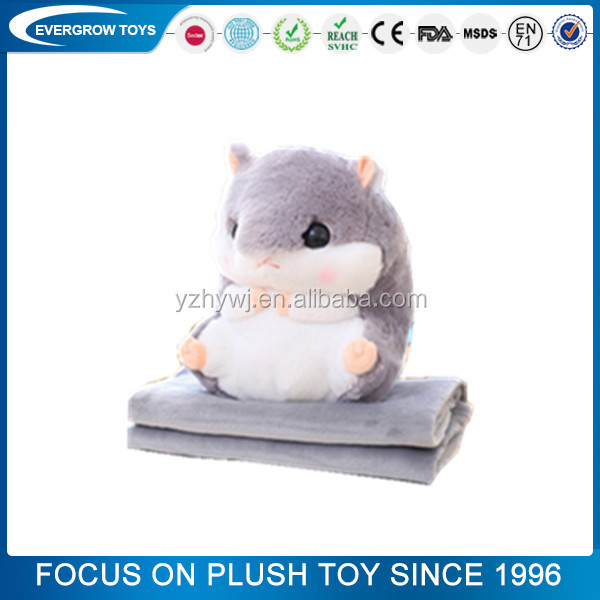 custom plush pillow blanket x hamster