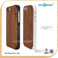 3D Knight for iphone 5 S wood bumper case ,aluminum Wood Bumper case For Iphone 5&5S