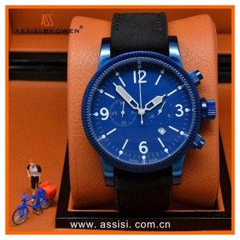 Assisi brand High quality sports mens watch stainless steel back water resistant