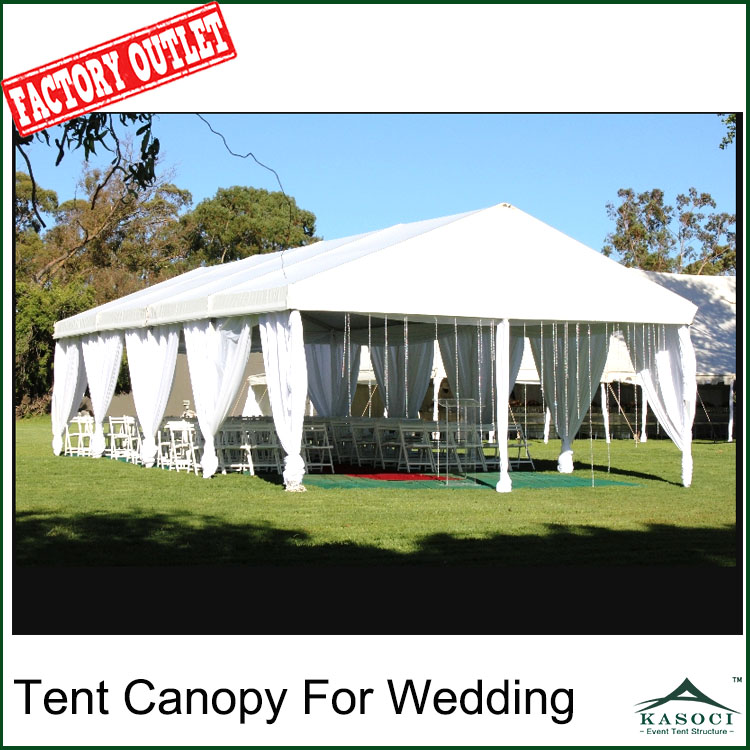 PVC Tarpaulin Gazebo Tent Canopy For Wedding 100 Guests