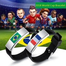 Best seller 2018 world cup bracelet fashion leather bracelet men ball chain