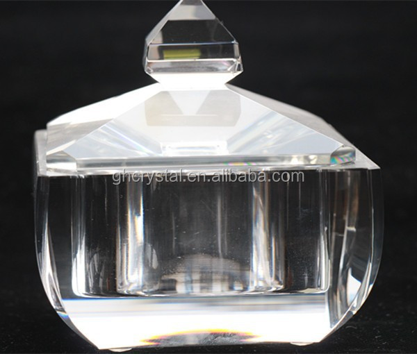 Beautiful Crystal Glass sugar Bowls with Lids