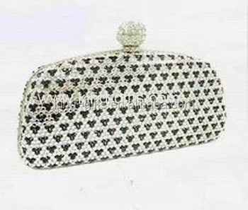 Bling rhinestone luxurious handmade lady handbag