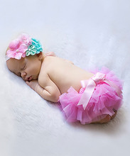 2016 New Baby Clothes Set Infant Girls Suit Indlude Pink Headband And Tutu Bloomers Cute Kids Clothing NP-G-CS905-32
