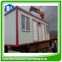 Sandwich panel Eco-friendly Flat pack container homes
