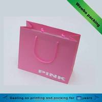 cute pink shopping paper bag for boutique
