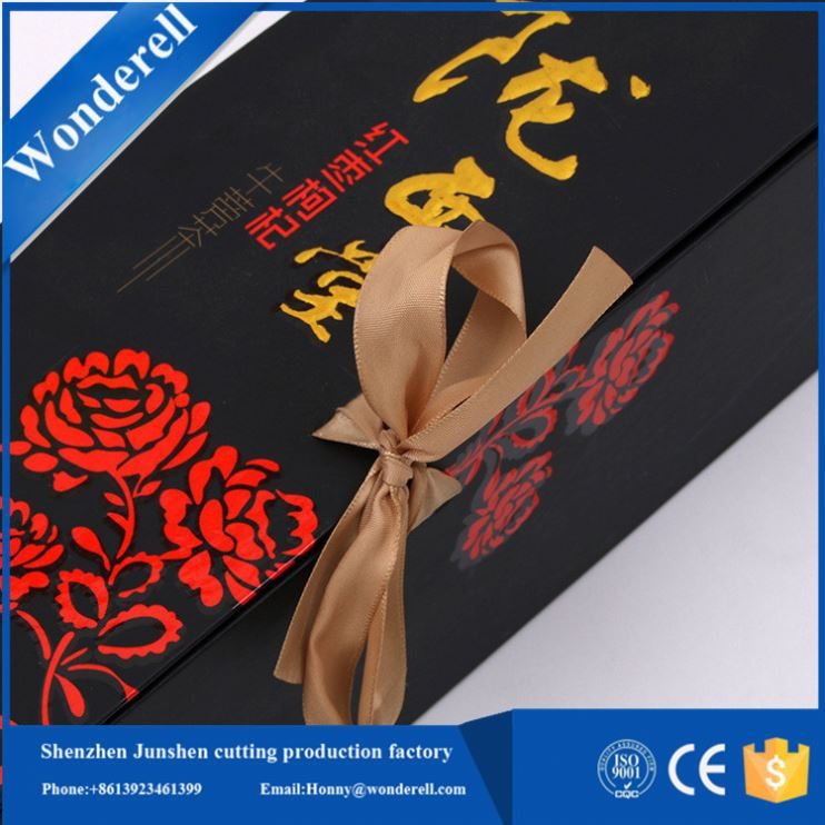 Best price Golden printing paper hole design custom jewelery box packaging