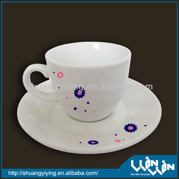 porcelain cup and saucer in color design wwc13090