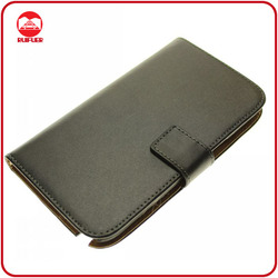 Hot Selling Wallet Real Genuine Leather Flip Case for Samsung Galaxy Note 2