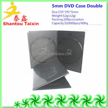 shantou 5mm pp dvd cd box black double