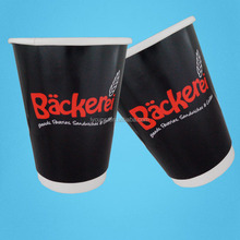 12oz 400ml Biodegradable PLA Printed Double Coffee Paper Cups