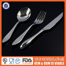 Custom made tableware silver spoon and fork factory korean style chef knife