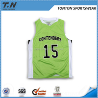 wholesale new style basketball jersey dresses green color