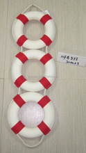 Nautical Wall Lifebelt , Red 20cmx3, Marine Sea Time decorative life buoy, hand made life preserves wall craft