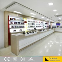 Design shop counter for mobile phone accessories display
