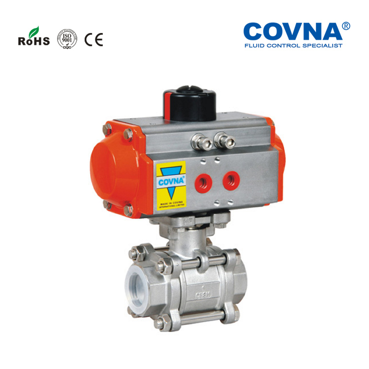 High Quality Stainless Steel Thread Ball Valve with Pneumatic Actuator