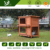 Portable no pollution firm secure large wooden rabbit hutch for garden use