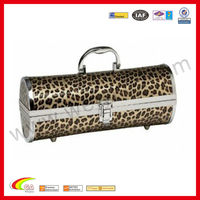 leather wine holder box leopard print wine case tote wine carrier for promotion gifts2013