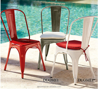 Modern outdoor stacking metal bar stool chair for restaurant coffee