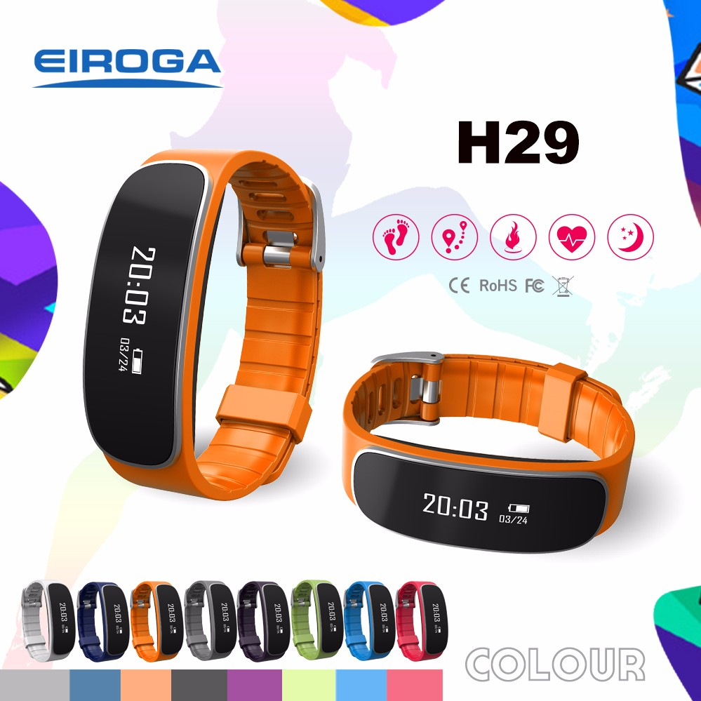 Multifunctional smart watch GPS wristband fitness tracker Bluetooth heart rate bracelet