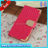 ebay China Diamond Wallet Card Slots Mobile phone cover case for Samsung Galaxy S5 i9600 China Products 2014 newest