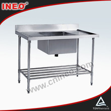For Hotel Kitchen Used Commercial Stainless Steel Sinks/Outdoor Stainless steel Sink/Stainless Steel Sink With Drain Board