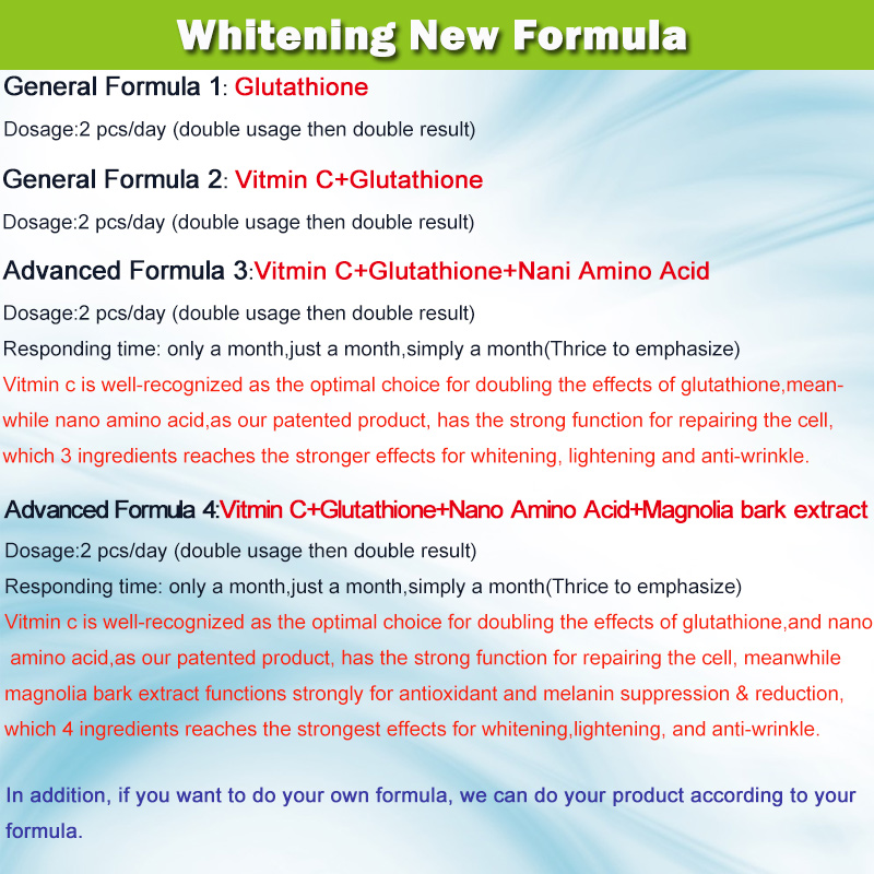 best selling pure and organic glutathione capsule skin whitening pills