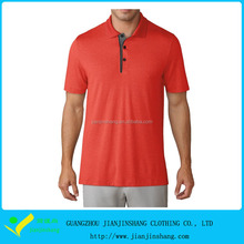 Cation Polyester Blended Anti-Bacterial Men's Compression Golf Shirt