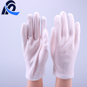 White TC Cotton Anti-skid Formal Etiquette Inspection Working Gloves