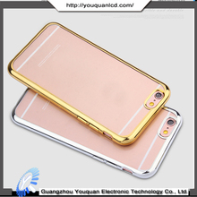 High Quality Ultra Thin Soft TPU Clear Cover For iPhone 6 Plating Case
