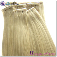Factory Price Top Quality Remy Virgin Beautiful color 613 blonde hair weave 40 inch blonde hair extensions
