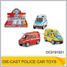 Chenghai toys die-cast pullback police car 12pcs/display box OC0191921