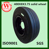 High quality puncture proof 400x8x3.75 solid tire mounted on split rim used for port trailer