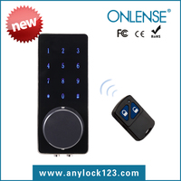 Front handle digital keypad door lock