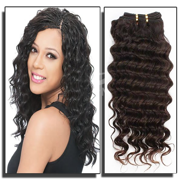 Group deal Free Shipping 3 Bundles 6A Wholesale Brazilian Hair Weave deep Wave Natural Color 100% Virgin Brazilian Hair