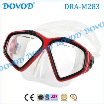Professional full face scuba tempered glass diving mask