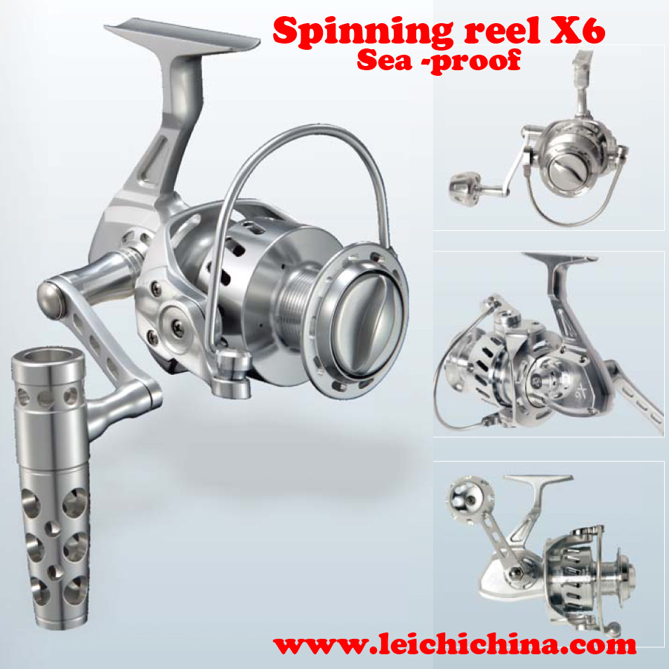 Chinese wholesale sea proof all CNC cut aluminum spinning fishing reel