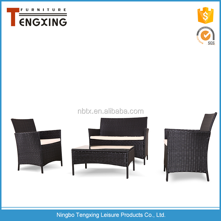 2017 hot sell high back wicker rattan chairs