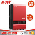 MUST 5000w hybrid power pure sine wave power ups inverter with battery charger/ hybrid charge controller/5kw hybrid solar