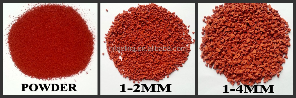 rubber granulate/epdm granule for wet pour surfaces/playgrounds-G-Y-160216