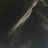 high quality and super soft black warp faux fur fabric for fur coat