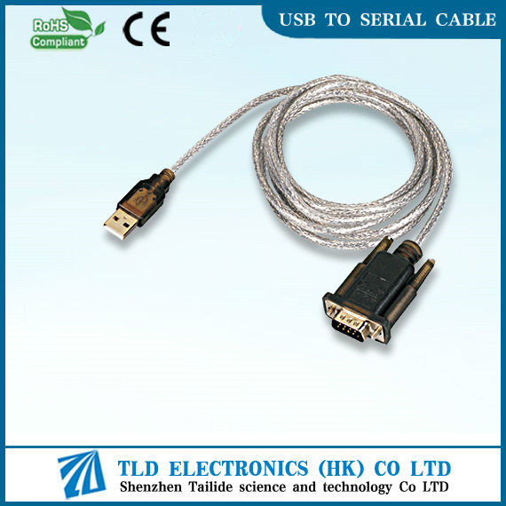 USB 2.0 to Serial DB9 RS 232 Adapter Cable
