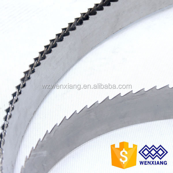 Carbon steel band saw blades for woodworking tools used sawmill