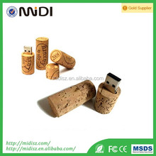 Promotion gift wooden USB flash drive with key chain customized logo