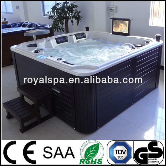 Mini outdoor double whirlpool bathtubs spa with TV DVD
