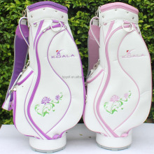 white pink women leather golf bags