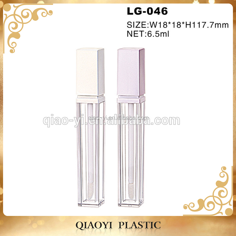 Square matte lip gloss packaging